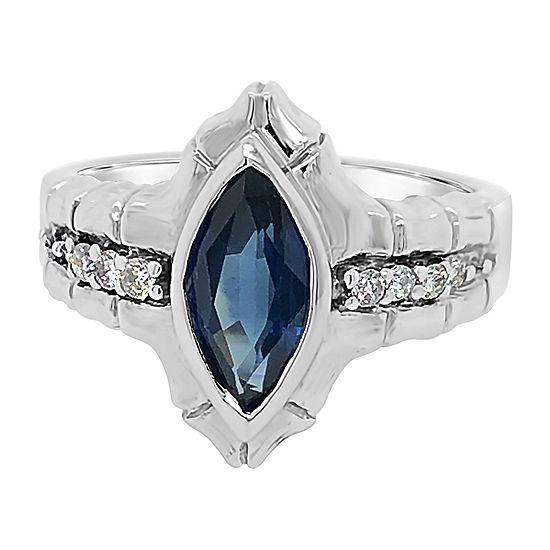Le Vian Grand Sample Sale™ Ring featuring Blueberry Sapphire™ Vanilla Diamonds® set in 14K Vanilla Gold®