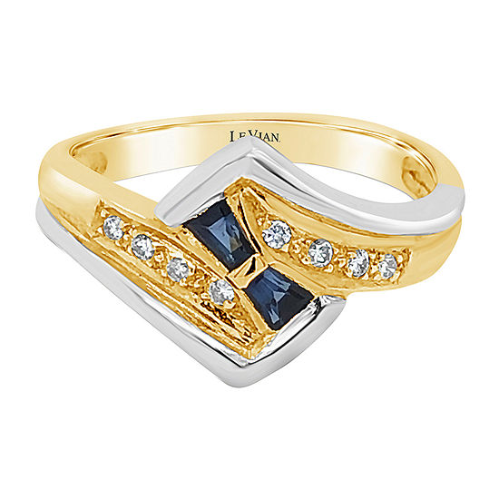Le Vian Grand Sample Sale™ Ring featuring Blueberry Sapphire™Vanilla Diamonds® set in 18K Two Tone Gold
