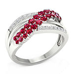 Womens 1/6 CT. T.W. Lead Glass-Filled Red Ruby 10K Gold Cocktail Ring