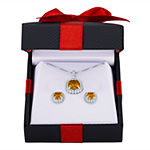 Lab Created Yellow Citrine Sterling Silver 2-pc. Jewelry Set