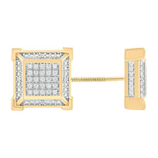1/6 CT. T.W. Genuine White Diamond Sterling Silver 11.2mm Stud Earrings