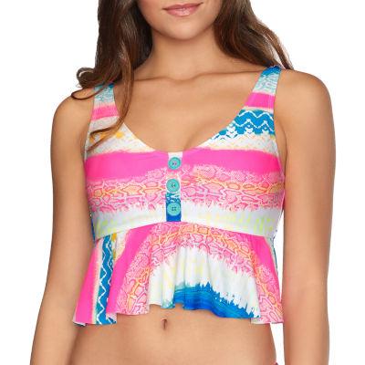 Arizona Abstract Tankini Swimsuit Top Juniors