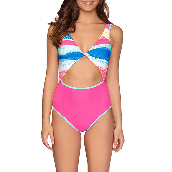 Arizona Abstract One Piece Swimsuit Juniors