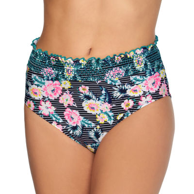 Arizona Floral High Waist Swimsuit Bottom Juniors