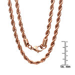 Stainless Steel 30 Inch Semisolid Rope Chain Necklace