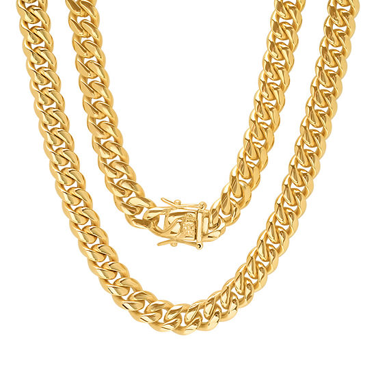 Stainless Steel 24 Inch Semisolid Box Chain Necklace