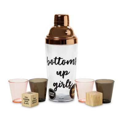 Tri-Coastal Design Girls Night Cocktail Shaker Game Set