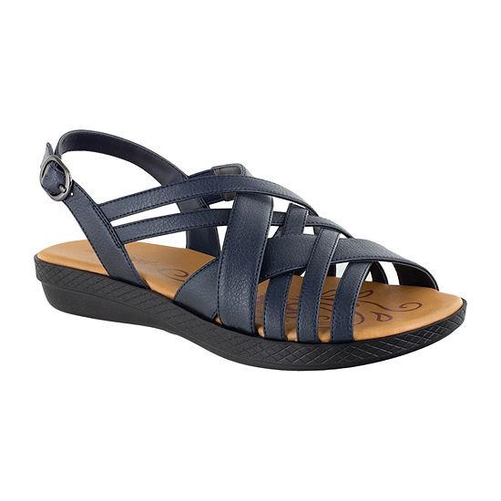Easy Street Womens Jasmine Strap Sandals
