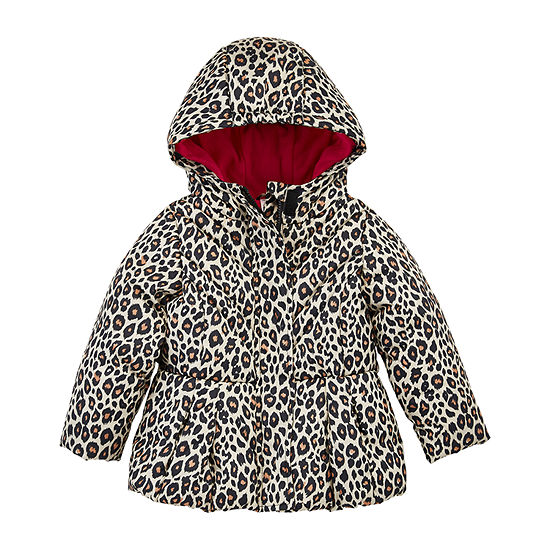 Okie Dokie - Girls Heavyweight Puffer Jacket-Toddler