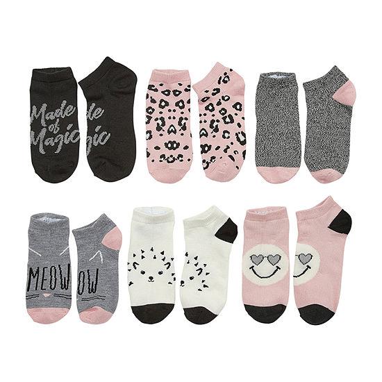 Arizona 6 Pair Low Cut Socks Girls Big Kid
