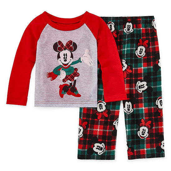 Disney Toddler Girls 2-pc. Minnie Mouse Pant Pajama Set
