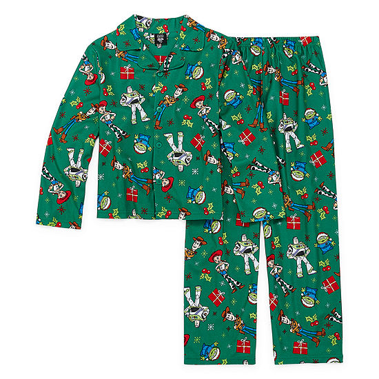 Disney Toy Story Family Unisex Kids 2 Piece Coat Front Pajama - Preschool/Big Kid