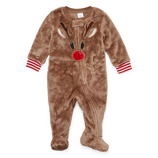 North Pole Trading Co. Reindeer Family Footed 1 Piece Pajama -Unisex Baby