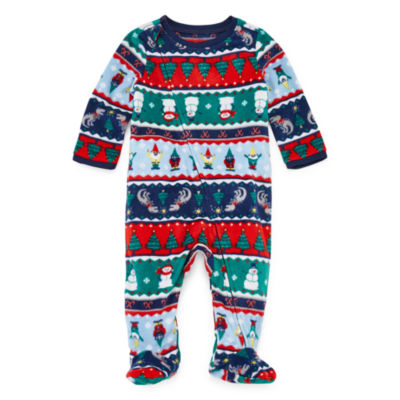 North Pole Trading Co. Fun Fairisle Family 1 Piece Footed Pajama -Unisex Baby
