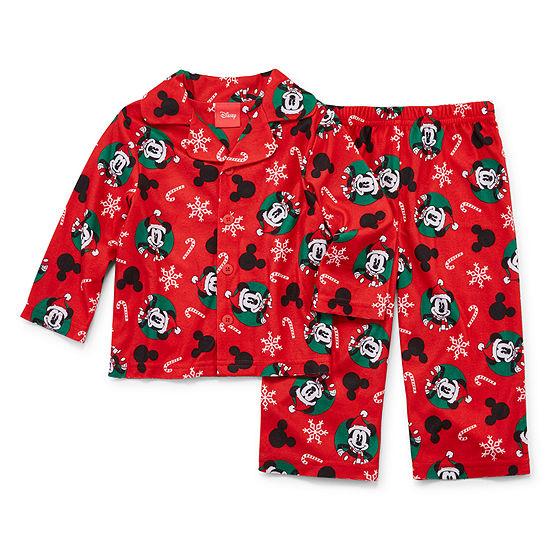 Disney Mickey Family 2 Piece Coat Front Pajama -Unisex Baby