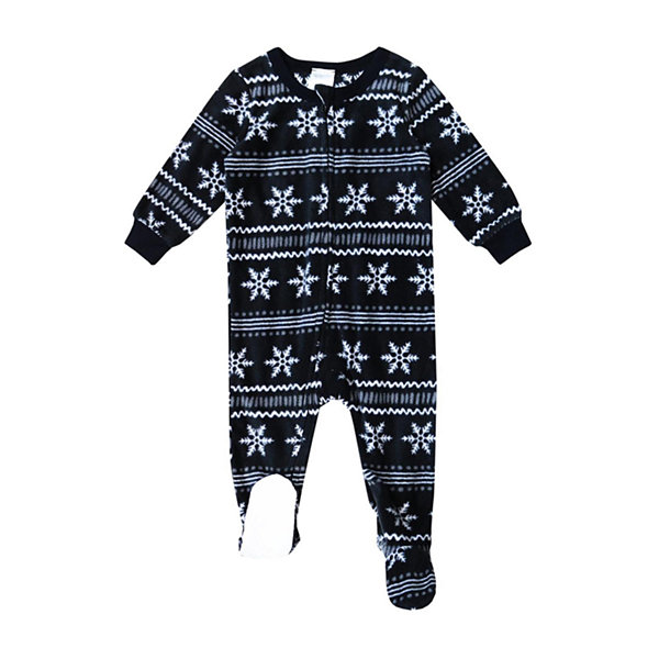 Holiday #Famjams Black Fairisle Foil Family Unisex Knit Footed Pajamas Long Sleeve