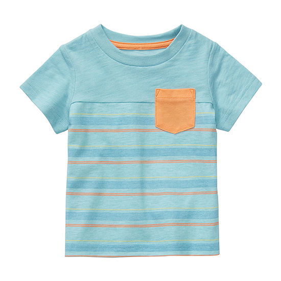 Okie Dokie Baby Boys Crew Neck Short Sleeve T-Shirt