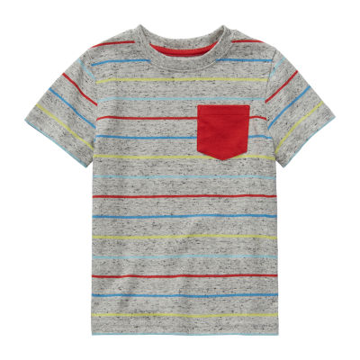 Okie Dokie Boys Crew Neck Short Sleeve T-Shirt-Toddler