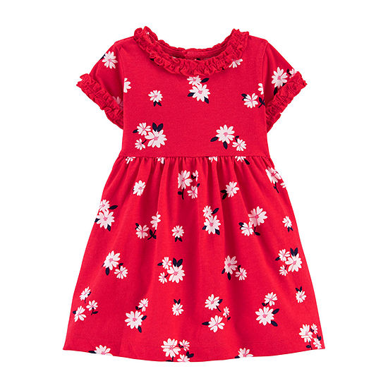 Carter's Girls Long Sleeve Floral A-Line Dress - Baby