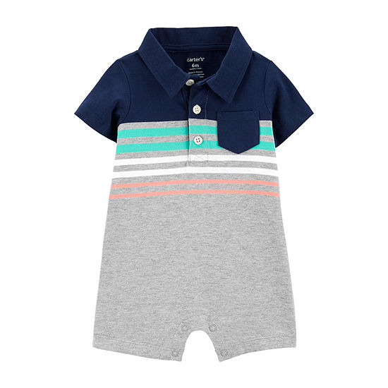 Carter's Boys Short Sleeve Romper - Baby