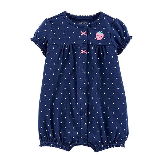 Carter's Girls Short Sleeve Romper - Baby