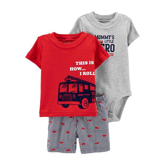 Carter's Boys 3-pc. Short Set Baby
