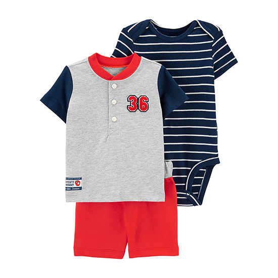 Carter's Baby Boys 3-pc. Short Set