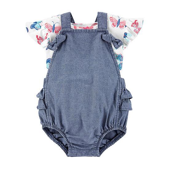 Carter's Baby Girls 2-pc. Shortall Set