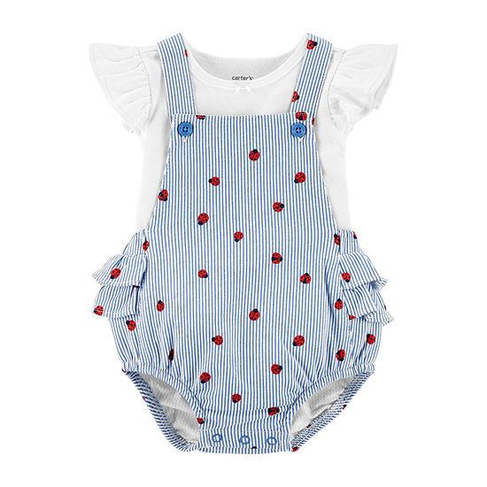 Carter's Girls 2-pc. Shortall Set Baby