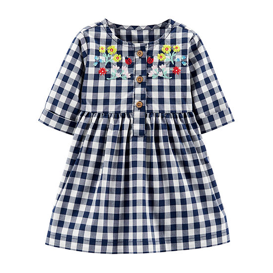 Carter's Baby Girls Long Sleeve A-Line Dress