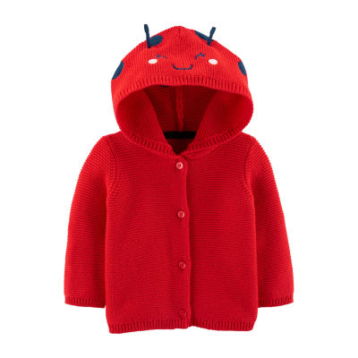 Carter's Girls Hooded Neck Long Sleeve Button Cardigan Baby