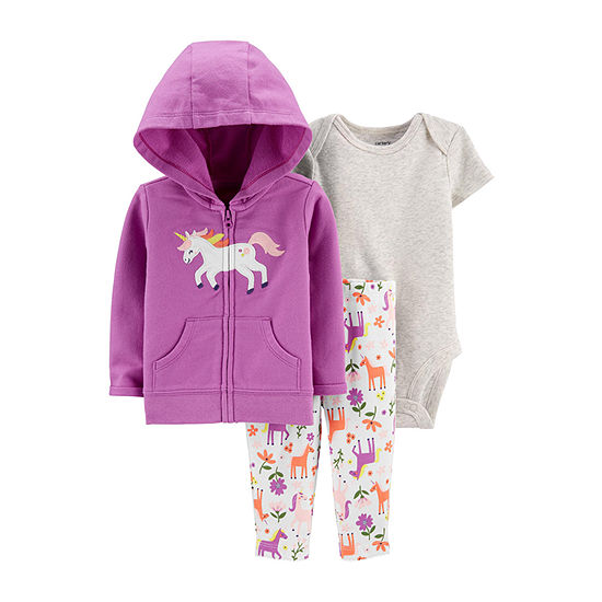 Carter's Baby Girls 3-pc. Legging Set