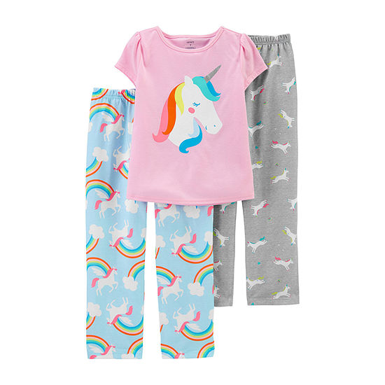 Carter's Girls 3-pc. Pajama Set Preschool / Big Kid