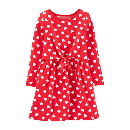 Carter's Girls Long Sleeve Shift Dress - Preschool / Big Kid