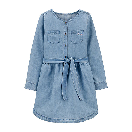Carter's Girls Long Sleeve - Preschool / Big Kid Shirt Dress