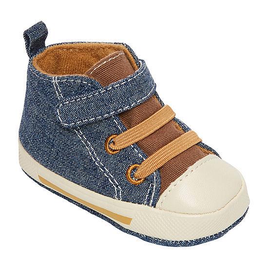 Okie Dokie Boys Hi Top Crib Shoes