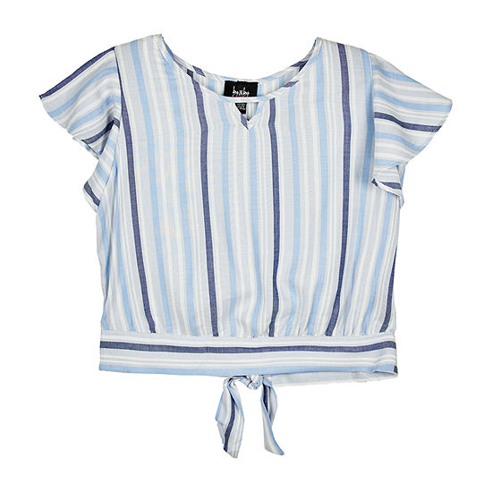 by&by girl Little Kid / Big Kid Girls Square Neck 3/4 Sleeve Blouse