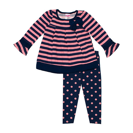 Nannette Baby Girls 2-pc. Legging Set-Preschool
