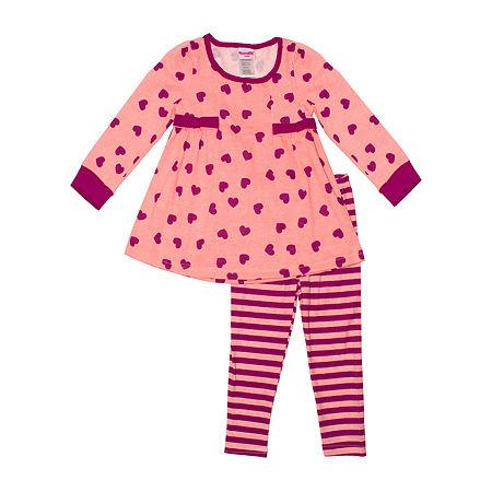 Nannette Baby Little Girls 2-pc. Legging Set, 5 , Orange