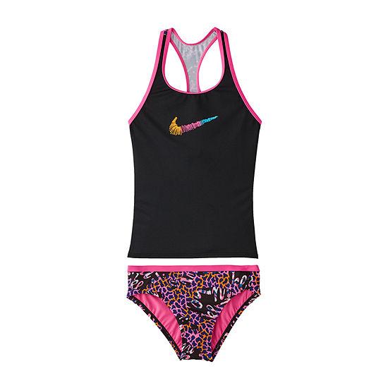 Nike Big Girls Animal Tankini Set