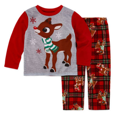 North Pole Trading Co. Rudolph Family Boys 2-pc. Pant Pajama Set Toddler