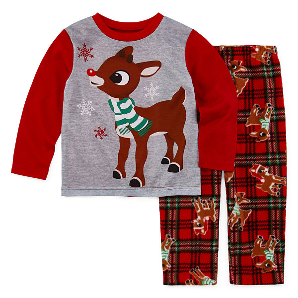 North Pole Trading Co. Rudolph Family Boys 2-pc. Pant Pajama Set Toddler