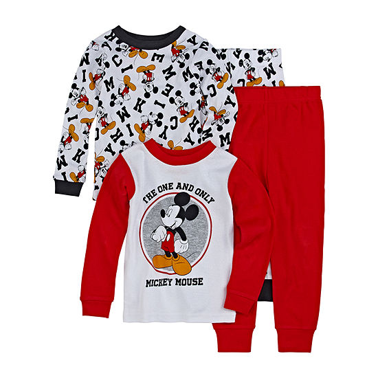 Disney Boys 4-pc. Mickey Mouse Pajama Set Toddler