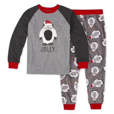 Holiday #Famjams Yeti Family Boys 2-pc. Pant Pajama Set Preschool / Big Kid