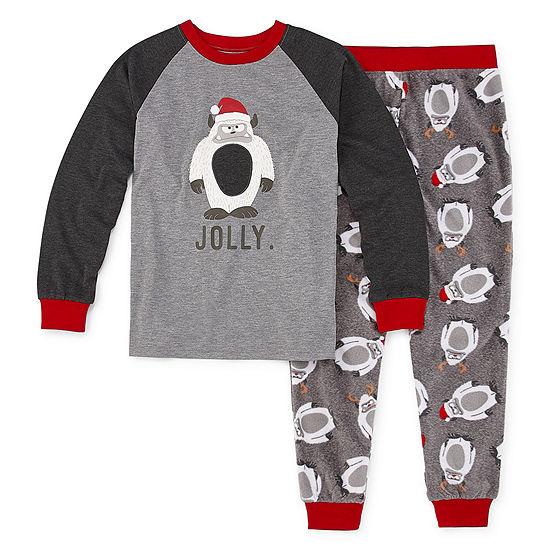 Holiday #Famjams Yeti Family Boys 2-pc. Pant Pajama Set Preschool / Big Kid