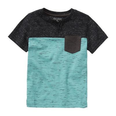 Okie Dokie Boys Y Neck Short Sleeve Graphic T-Shirt - Little Kid