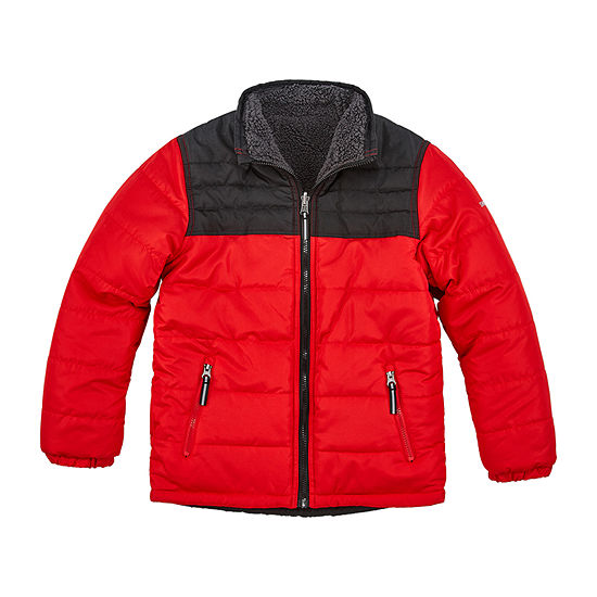 Boys Reversible Heavyweight Puffer Jacket-Big Kid