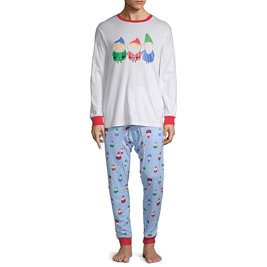 Secret Santa Gnomes Family Mens 2-pc. Pant Pajama Set