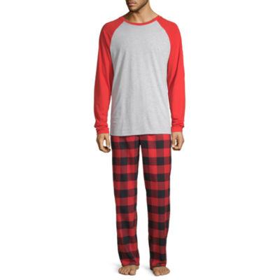 North Pole Trading Co. Buffalo Plaid Family Mens 2-pc. Pant Pajama Set