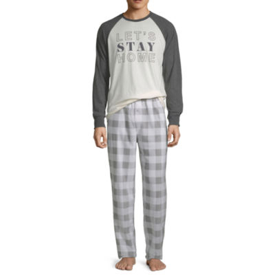 Holiday #Famjams Grey And Black Buffalo Family Mens 2-pc. Pant Pajama Set
